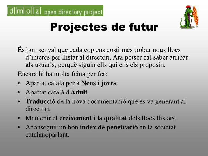 Projectes de futur