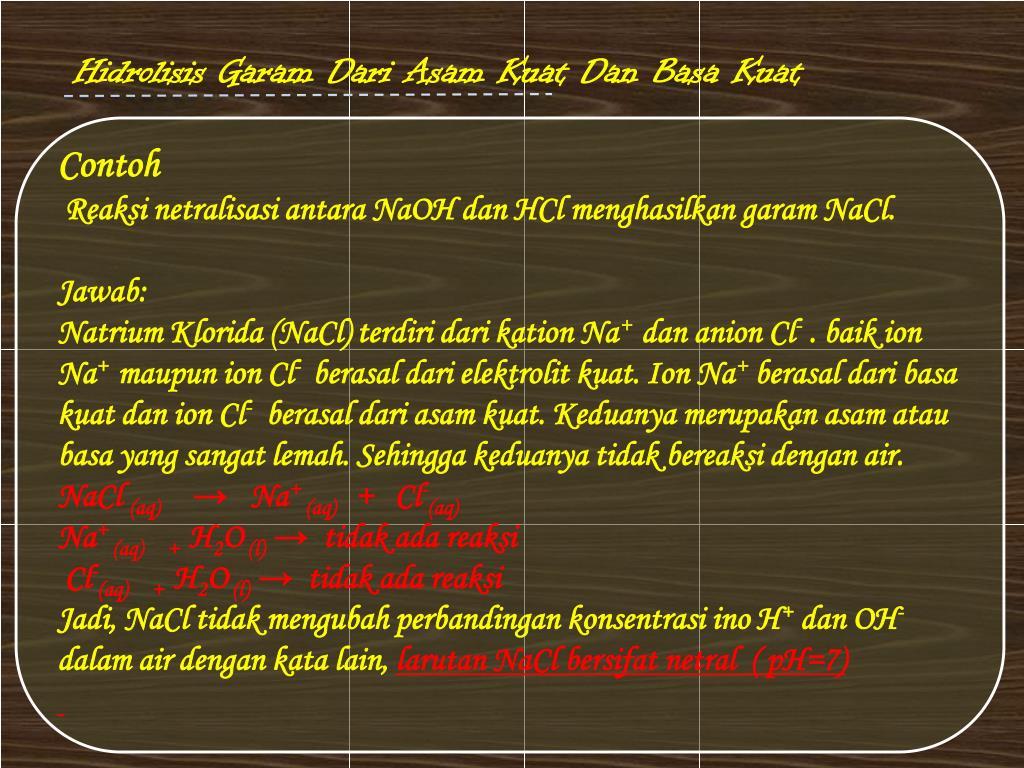 26+ Contoh Soal Hidrolisis Garam Dari Asam Lemah Dan Basa ...