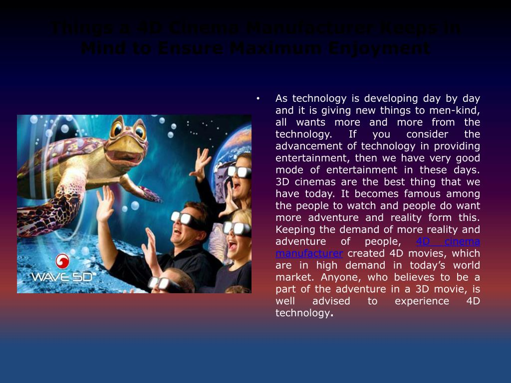 4D Max Cinema ppt - 4d cinema manufacturer powerpoint presentation, free