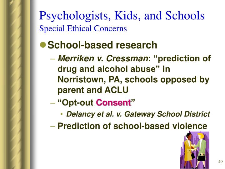 Psychologists, Kids, and Schools