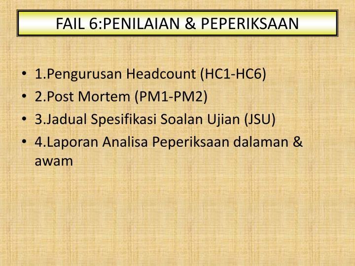 FAIL 6:PENILAIAN & PEPERIKSAAN