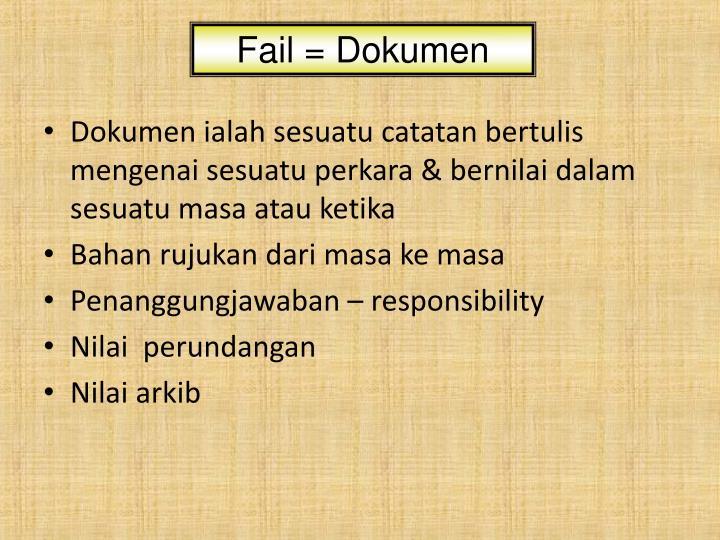 Fail = Dokumen