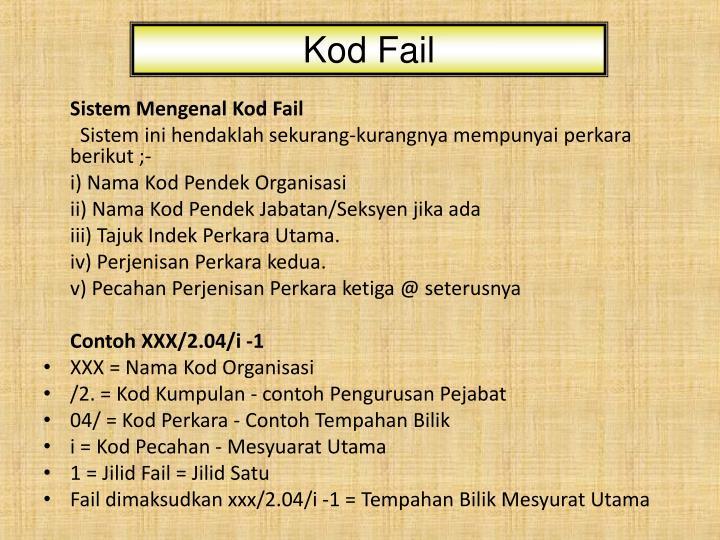 Kod Fail