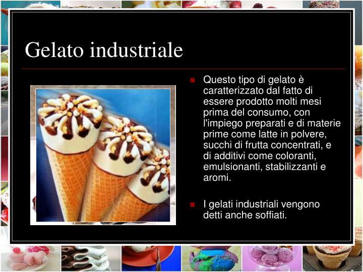 Gelato industriale