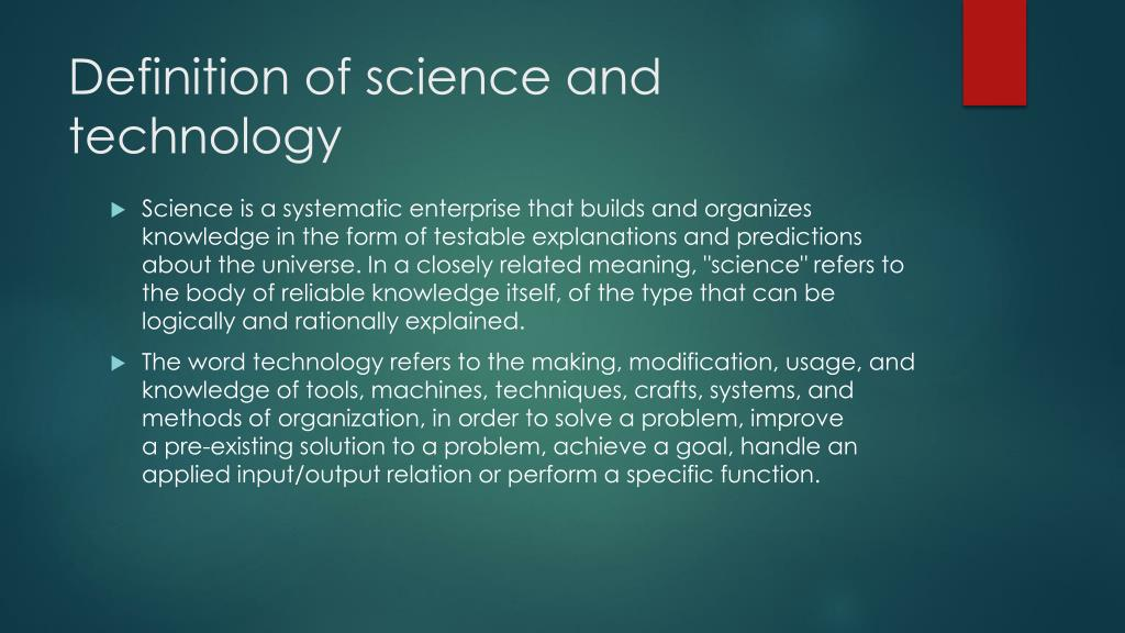 PPT - Science and technology PowerPoint Presentation, free ...