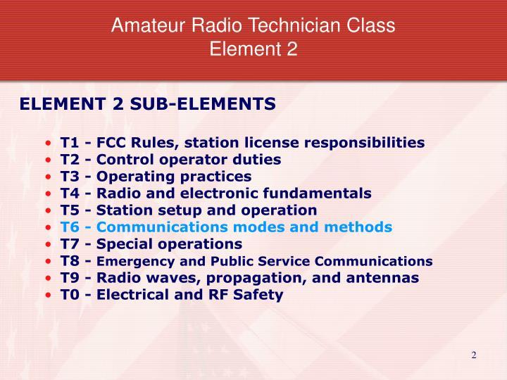 Amateur radio technician class element 2