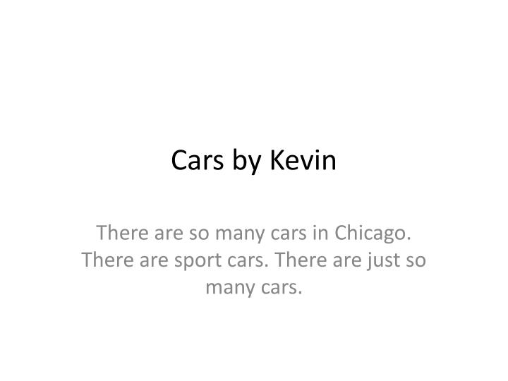 cars by kevin n.