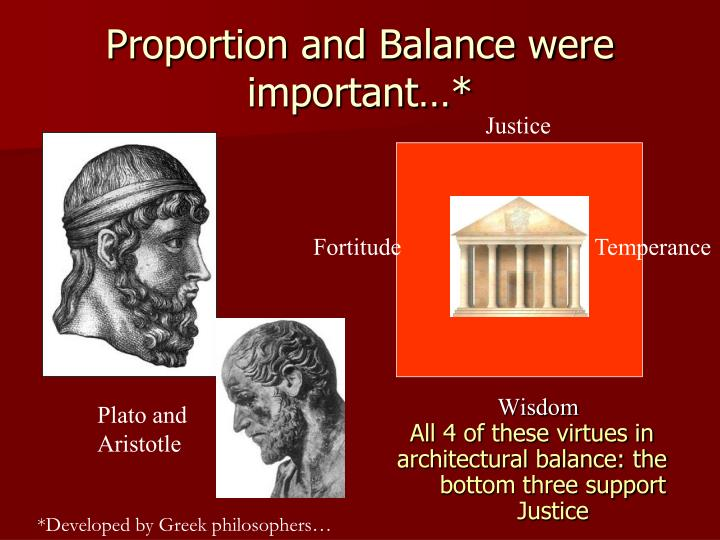 Proportion and Balance were important…*