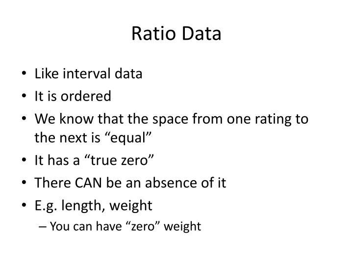 Ratio Data