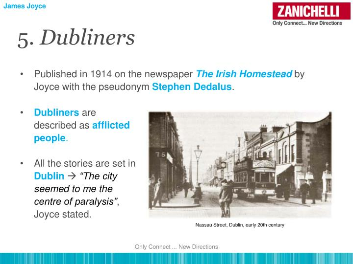 essays on james joyces dubliners James joyce dubliners essays are academic essays for citation these papers were written primarily by students and provide critical analysis of dubliners by james joyce.