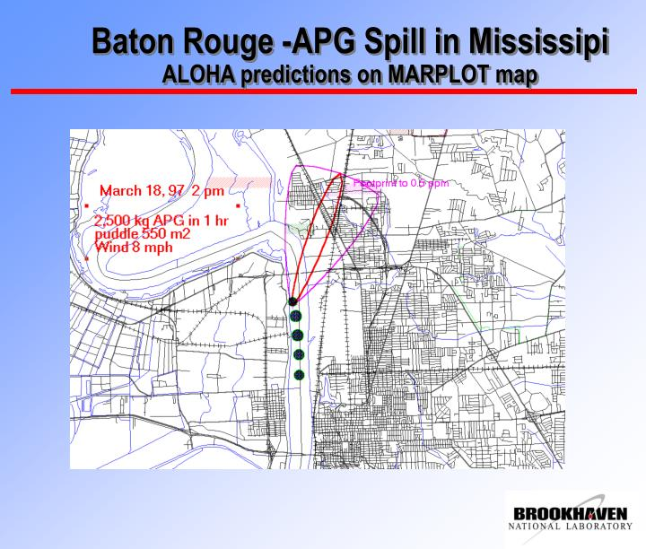 Baton Rouge -APG Spill in Mississipi