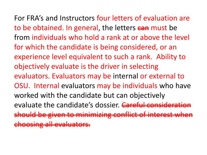 For FRA's and Instructors