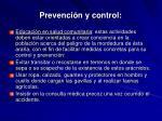 prevenci n y control