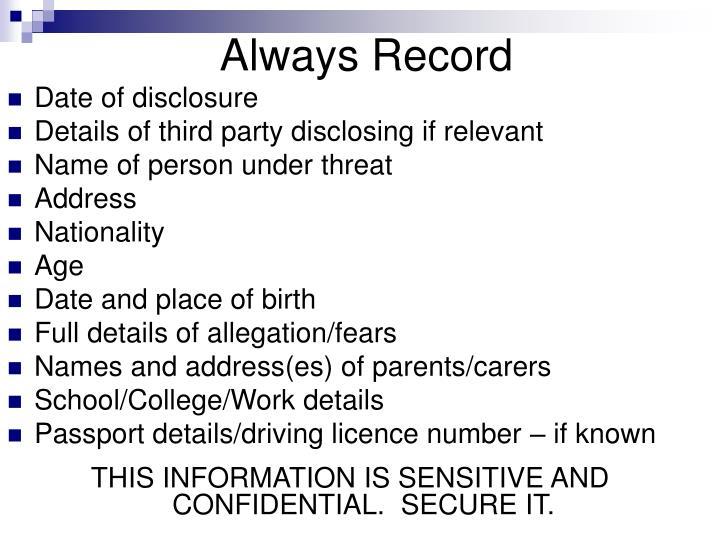 Always Record