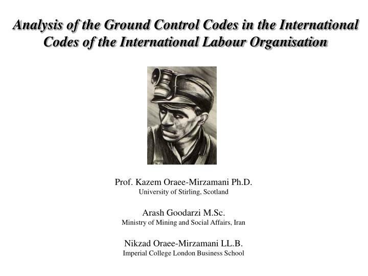 Analysis of the Ground Control Codes in the International Codes of the International Labour Organisa...