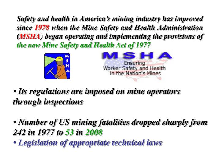 Safety and health in America