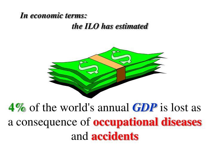 In economic terms: