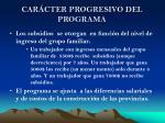 car cter progresivo del programa
