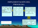 implementaci n del programa