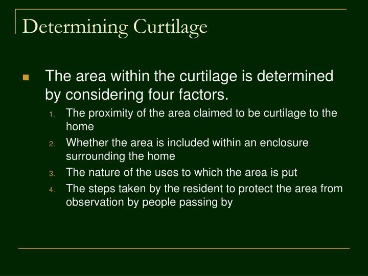 Determining Curtilage