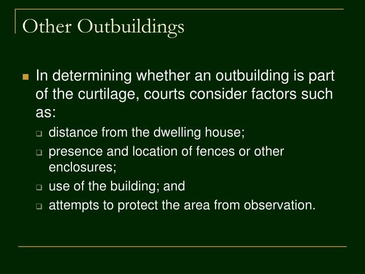 Other Outbuildings