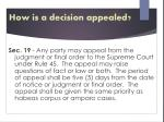 how is a decision appealed