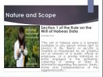 nature and scope