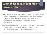 what if the respondent fails to make a return