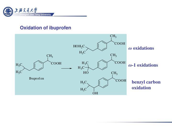Oxidation of ibuprofen