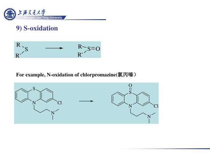 9) S-oxidation