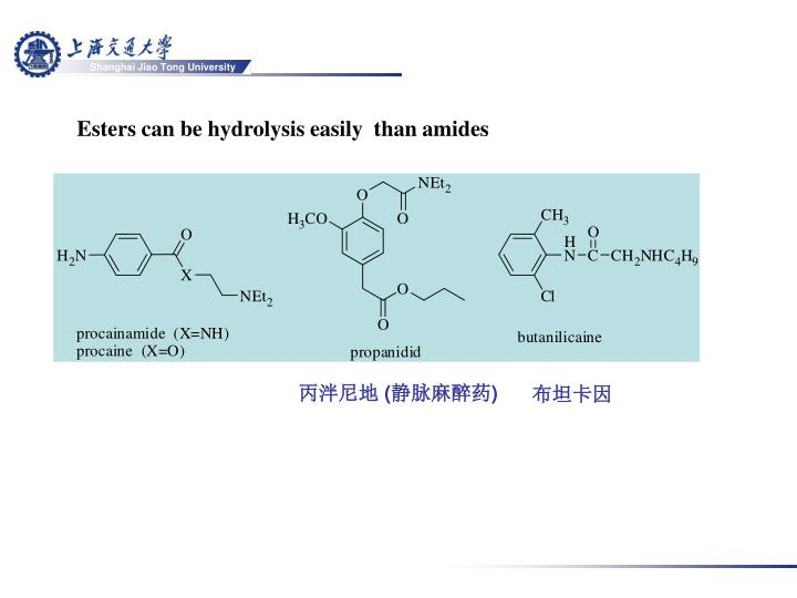 Esters can be hydrolysis easily  than amides