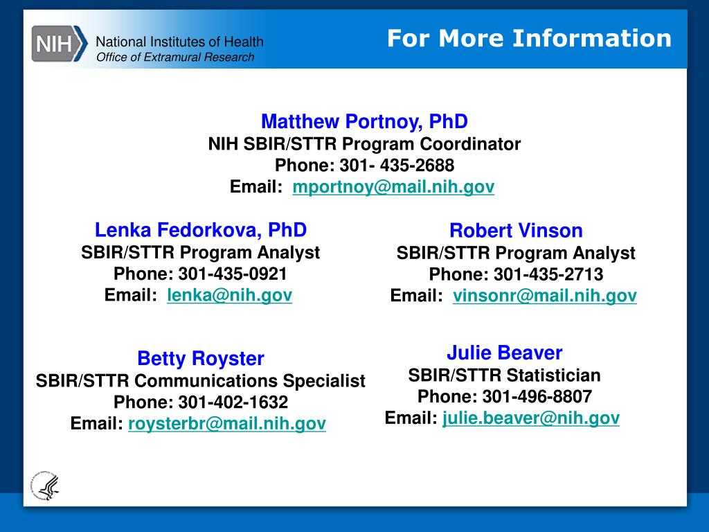 PPT - Overview of the NIH SBIR/STTR Programs PowerPoint