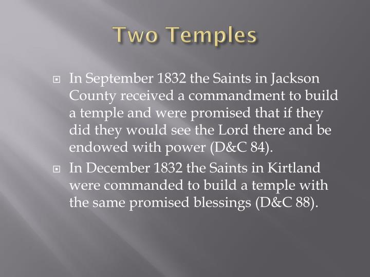 Two temples