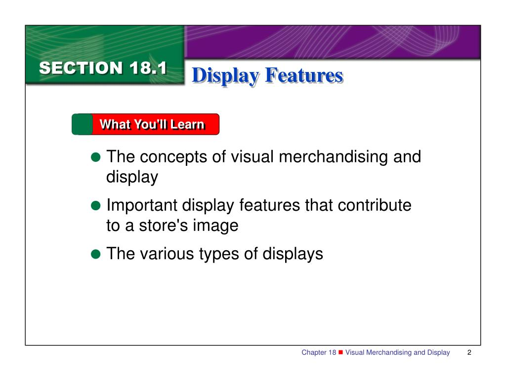 PPT - n Chapter 18 Visual Merchandising and Display ...
