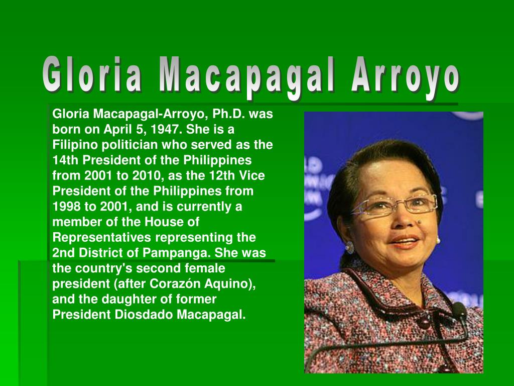 gloria macapagal arroyo accomplishments