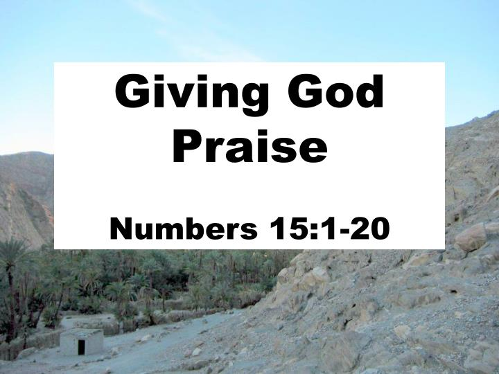 Giving god praise numbers 15 1 20