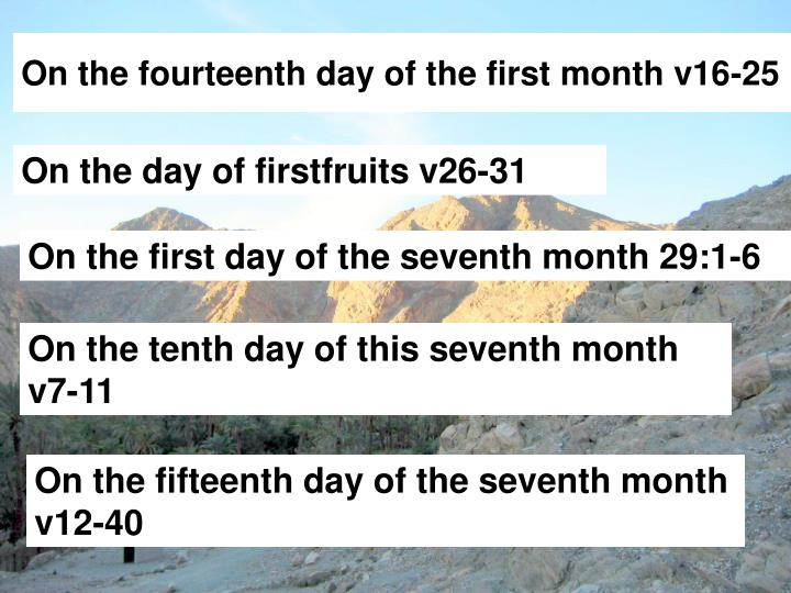 On the fourteenth day of the first month v16-25