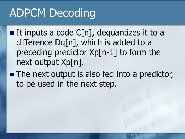 ADPCM Decoding