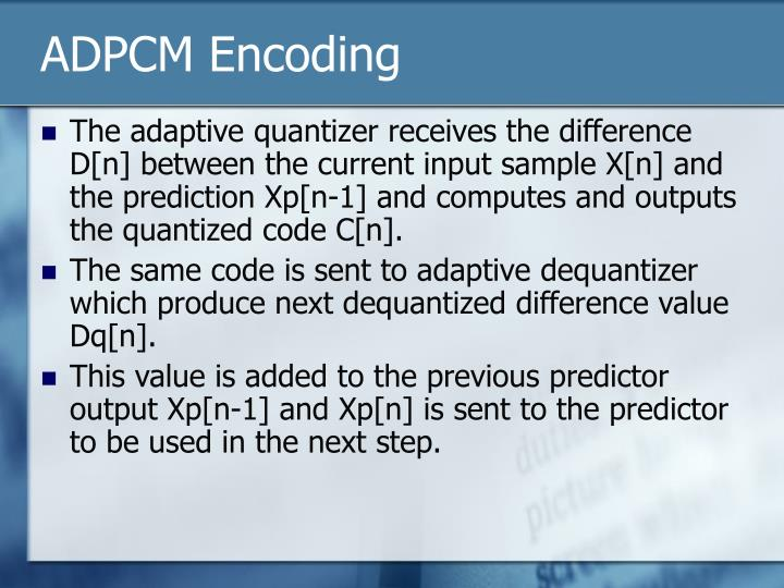 ADPCM Encoding