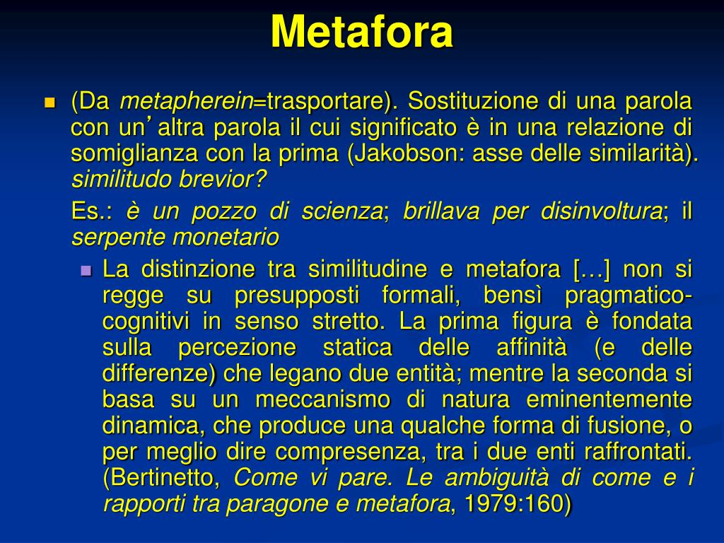 PPT - Metafore e metaplasmi PowerPoint Presentation - ID:5387863
