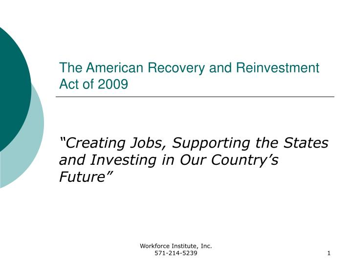american recovery act Text for hr1 - 111th congress (2009-2010): american recovery and reinvestment act of 2009.