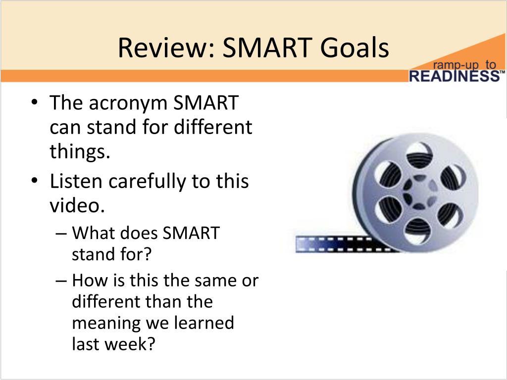 PPT - SMARTER Goals PowerPoint Presentation - ID:5387933
