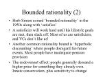 bounded rationality 2