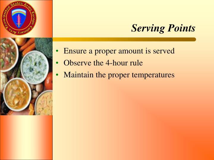 Serving Points