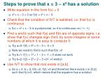 steps to prove that x 3 x 5 has a solution