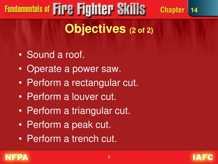 Objectives 2 of 2