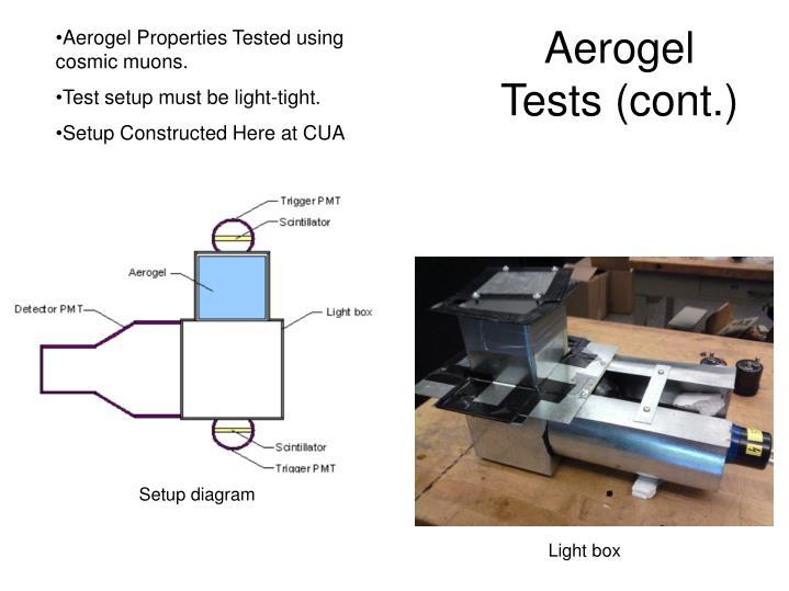 Aerogel Tests (cont.)