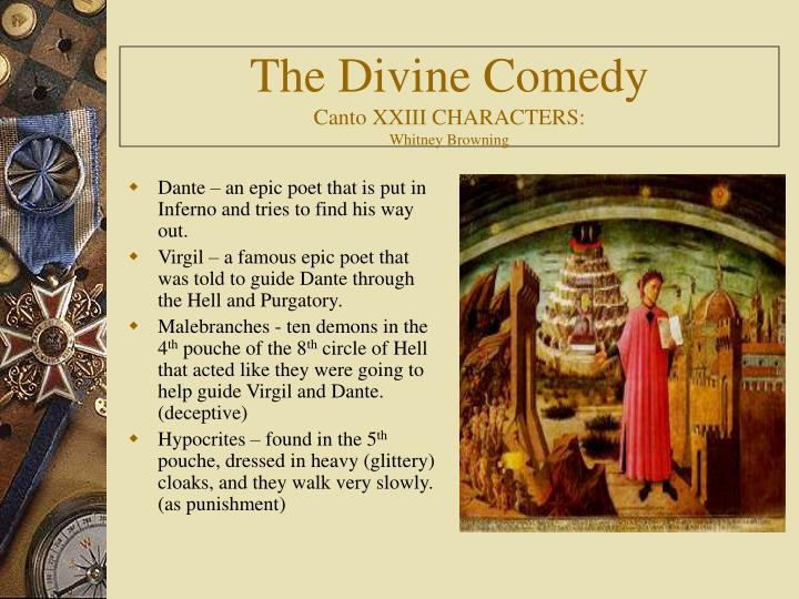 the divine comedy canto xxiii characters whitney browning n.