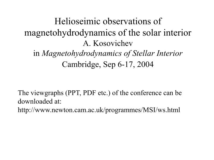 Helioseimic observations of magnetohydrodynamics of the solar interior