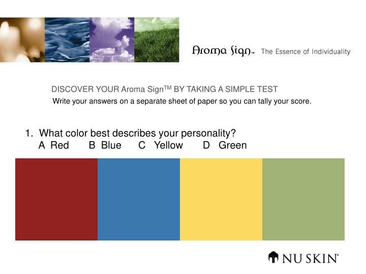 image regarding Red Blue Green Yellow Personality Test Printable referred to as PPT - 1. What coloration suitable explains your identity